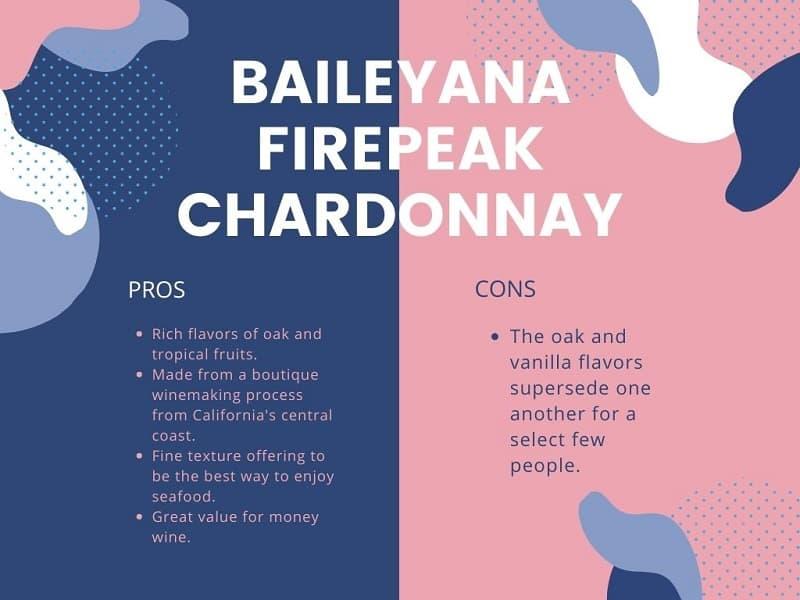 Baileyana Firepeak Chardonnay pros and cons