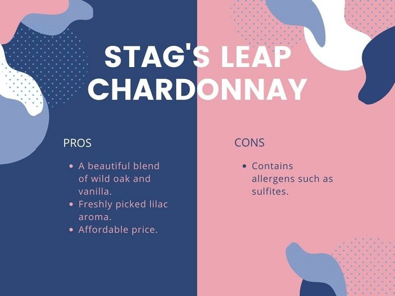 Stag's Leap Chardonnay pros and cons