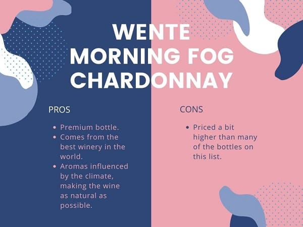 Wente Morning Fog Chardonnay Pros and Cons